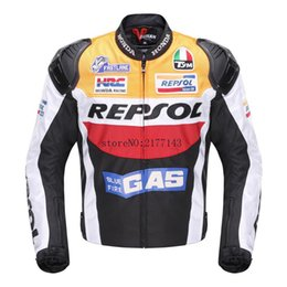 Wholesale Men S Moto Jacket - DUHAN Moto Racing Jackets motorbike GP REPSOL motorcycle Riding Leather Jacket Top Quality OXFORD Jersey