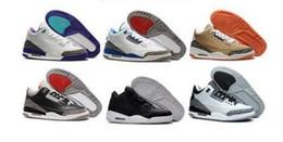 Wholesale Men S Us14 - New Retro 3 Basketball Shoes Sports Replicas Authentic Man Sneakers Buy Aires Fashion Men s Retro Shoes 3s III Shoes Sale