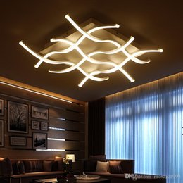 Wholesale G4 Led Fast - Fast shipping Rectangle acrylic modern led ceiling lights for living room bedroom lamparas de techo colgante square led ceiling lamp fixture