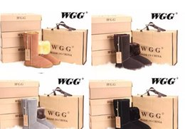 Wholesale Size Boots Knee - Free shipping 2017 High Quality WG-G Women's Classic tall Boots Womens boots Boot Snow Winter boots leather boot US SIZE 5---13