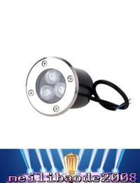 2019 luz empotrada led de piso Lámparas de luz subterránea de 3W LED enterradas al aire libre lámpara de pie empotrada a prueba de agua Iluminación de escalera para paisajes IP67 85-265V AC MYY rebajas luz empotrada led de piso