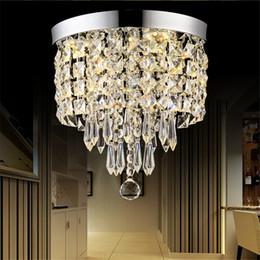 Wholesale Steel Crystal Chandelier Pendant Lights - Modern Crystal Chandelier Pendant ceiling light, Chrome Finish Crystal Chandelier Pendent Light for Hallway, Bedroom, Kitchen, Kids Room