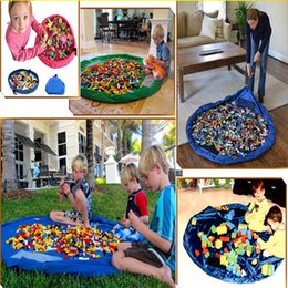 Wholesale Wood Box Building - New Portable baby 45CM play mat infant toy fast storage bags building lego block organizer blanket rug boxes small size LC451