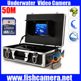 "Wholesale Underwater Fishing Dvr - 20M-50M Underwater Fishing DVR Camera Kit Control Box With Video function 7"" TFT Color Fish Finder"