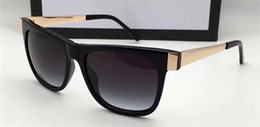 Wholesale Women One Leg - new men brand designer sunglasses G3718 square frame retro vintage style UV400 lens metal legs with original case italian designer top one