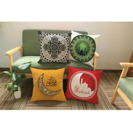 Wholesale Ramadan Home Decoration - Home Decor Cushion Case Middle East Pillow Covers Ramadan Decoration Islamic Eid