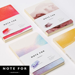 Wholesale Japanese Notebook Wholesale - Wholesale- Japanese Stationery Creative Mizuiro Watercolor Paiting Style Cover Blank Pages Notebook DIY Drawing Sketchbook Graffiti Diary