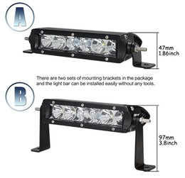 Wholesale Cheap Cree Driving Lights - cheap ship 6.5'' 30W LED Light Bar With CREE LED Chips IP67 12V 24V 2700LM for Off Road Tractor Boat ATV 4WD Driving Bar Light