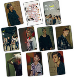 Wholesale Bamboo Albums - Wholesale- Kpop GOT7 2016 MAD comeback album FLY crystal stickers 10k-pop has 7 Photos poster birthday holiday gift prizes welfare collect