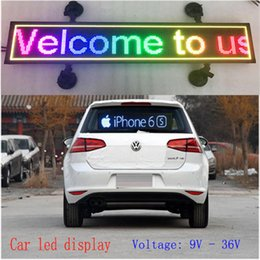 Wholesale Plastic Advertising Signs - indoor programmable image LED Car display RGB full color LED sign support scrolling text LED advertising screen display