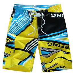 Wholesale Beach Casual Wear - M-6XL Summer Men's Beach Board Shorts Quick Drying Casual Hawaii Holiday Trunks Wear Short Trousers Plus Size