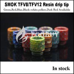 Wholesale E Cig Replacement Tip - E-cig replacement Drip tip resin snake skin drip tips for smok TFV8 TFV12 big baby Alien AL85 G320 GX350 G-priv H-priv mini Q-box