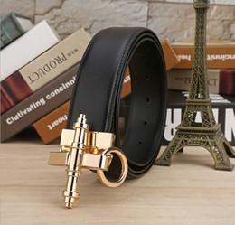 Famosos cinturones de marca online-2017 Nuevo Diseñador Famosa Marca Cinturones de Lujo Mujeres Hombres Cinturones Correa de Cintura Masculina Cinturón de Hebilla de Aleación de Cuero Genuino