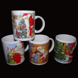Wholesale Color Changing Cups Wholesale - free shipping Color changing cup   Christmas ceramic cup, Christmas mug, Santa Claus snowman creative gift ceramic mug wholesale