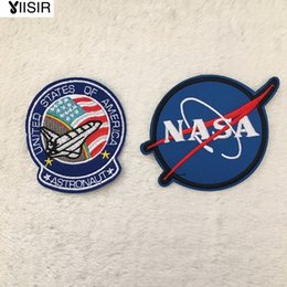 Wholesale Heat Transfer Appliques - Fabric Astronaut Nasa Heat Transfer Embroidery Clothes Patches,Sew On,Iron On Patch,Appliques For Clothing,Backpack,Biker