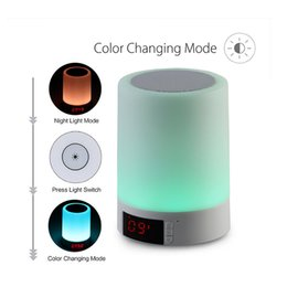 Wholesale Romantic Alarm - New Arrival Romantic Light Bluetooth Speaker LED Table Music Lamp Support Alarm Clock Speakerphone