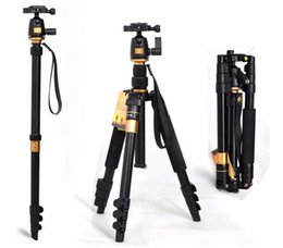 Wholesale Camera Tripod Bearings - Portable 10KG bear aluminium monopod stand professional camera tripods for slr video clip tripodes para reflex dslr tripod