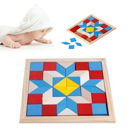 Wholesale Logic Toys - Geometry Tangrams Logic Brain Training Games IQ Wooden Puzzle Kids Toys Gifts
