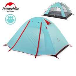 Wholesale Double Layer Tents - 3-4 Person Camping Tent 3 season 210*160*115cm Double Layer Outdoor Camping Hike Travel Ultralight Tent Aluminum Pole