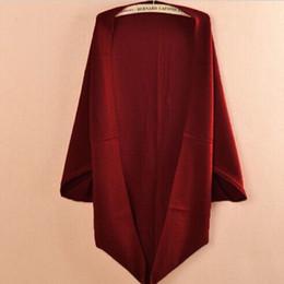 2017 Nuevas Mujeres de La Moda Casual Corea Chal Suelto Mangas Batwing Lady Knit Suéter Escudo de Lana de Las Mujeres Cardigans Chaqueta desde fabricantes