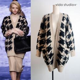Wholesale ladies mink fur coats - Wholesale- New women's fashion knitted mink cashmere cardigan sweater ladies knit long fur coat jacket girl's outwear waistcoat