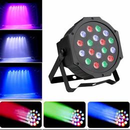 1 UNID 18W AC 85-265V Led Par Lights RGB Iluminación de escenario DMX512 Led Lights para fiesta KTV Disco DJ iluminación desde fabricantes