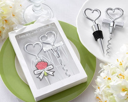 Wholesale Personalized Wine Bottle Stopper Wholesale - Wedding Favors Gifts Born of a couple Wine opener Personalized Cheers to a Great Combination Corkscrew and Stopper Sets