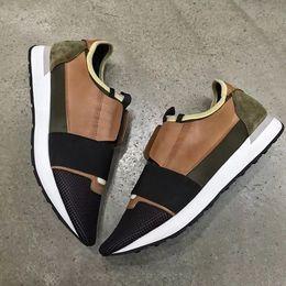 Wholesale Navy Footwear - Luxurious BL Arena Flats Race Runner Sneaker Shoes Men Footwear Unisex Casual Walking Sneakers Free Shipping Size 35-46