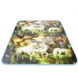 Wholesale Cotton Mattress Pads - Wholesale- Hot Sale Outdoor Portable Foldable Large PE Cotton Beach Camping Picnic Mat Pad with Printing Design Hiking Travel Pad NUMBER 1
