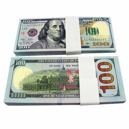 Wholesale Decoration Souvenir - 100PCS USA New $100 Dollars Movie Props Money Training Learning Banknotes Arts and Crafts Collectible Gifts Home Holiday Decoration Souvenir