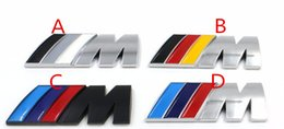 Wholesale 3d Logo Lights - 100pcs Car Stickers     M power M Tech Logo Emblem Badge Decals For BMW E30 E36 E46 E90 E39 E60 E38 Z3 Z4 M3 M5 X1 X3 X4 X5