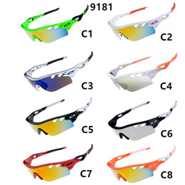 Wholesale Coloured Frame Sunglasses - 2017 Sunmmer Brand SUN glasses for Men Bicycle Glass Sports sunglasses Dazzle colour More 5000+ Styles Accept Mix Order Drop Shipping 9181