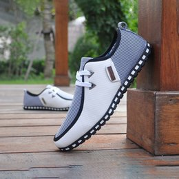 Wholesale Dress Sewing Fabrics - Fashion Simple Ultralight Flattie Breathable Casual Shose Lace Men Shoes British Style Non-slip Soles Sport Shoes XL-A98