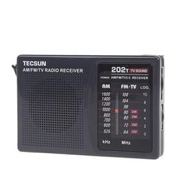 Al por mayor-Tecsun Mini radio portátil FM / AM / TV sonido Campus Radio Radio de bolsillo con altavoz incorporado de alta calidad desde fabricantes