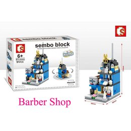 Wholesale Geography Toys - 1X Girls play house toys Building CITY TOWN Buildings BARBER 88PCS B1