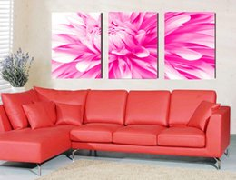 Wholesale Hand Drawn Pictures - 100%hand-painted oil wall art The Red passion Abstract oil paintings on canvas 3pcs set Home Decor Frameless draw core