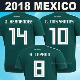 Wholesale Mexico Soccer Jerseys Black - 2018 World Cup Mexico soccer jerseys CHICHARITO LOZANO MARQUEZ CHUCKY DOS SANTOS PERALTA HERRERA football shirt thailand camisetas de futbol
