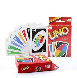 Wholesale Paper Puzzle Games - 200sets Family Funny Entertainment Board Game UNO Fun Poker Playing Cards Puzzle Games Standard uno card Free Shipping
