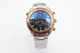 Wholesale Ocean Dive Watches - 2017 Luxury brand dive chronograph limited orange Mens Watch Professional Planet Ocean Co-Axial Dive Wristwatch original clasp Men Watches