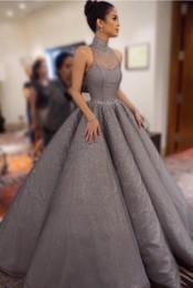 Wholesale Blue Satin Robes - Plus Size Evening Dresses 2017 Long Luxury Evening Dresses FLace Celebrity Dresses vestidos de novia A Line Prom Gowns robe de soiree longue
