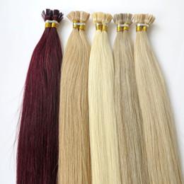 Wholesale brazilian cuticle hair - Lasting 2years Brazilian Hair Keratin Flat Tip Hair Full Cuticle Remy Indan Peruvian Malaysian Pre-bonded Human Hair Extensions
