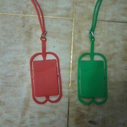 Wholesale Orange Lanyards Wholesale - suspensible tpu silicone dropproof back cover cellphone case with lanyard card slot for iphone samsung LG black berry smart phone
