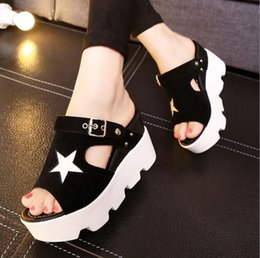 Wholesale Low Kitten Heel Silver Shoes - New women's shoes sandals with the tide version of the increase in fish mouth two women's shoes slippers