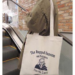 Wholesale Handbag Tote Korea - Wholesale- Korea Street Trend Style Canvas Travel Shopping Tote Bag Simply Design Single Shoulder Bag Environment-friendly Handbag