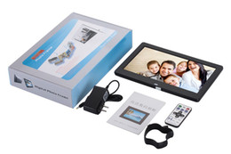 Wholesale Alarm Clock Player - Super Slim 10.1 10 inch TFT LCD digital photo frame Album MP4 movie player alarm clock 16:9 1024*600 JPEG JPG BMP MMC MS SD MPEG AVI Xvid