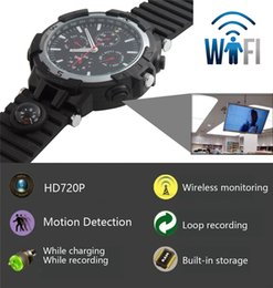 Wholesale Video Access - 32GB 720P HD The P2P Wifi Spy Camera Watch Wifi Hidden Camera Motion Activated Video Recorder DV Camcorder for IOS Android