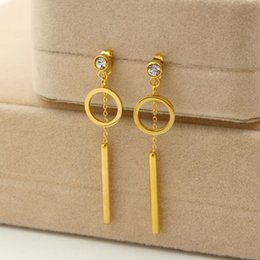 Wholesale Gold Faded Earrings - Top Quality Never Fade Gold-Color round Earrings 316L Stainless Steel Stud Earrings For Gift
