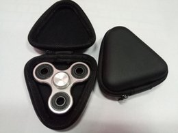 Wholesale Toy Carry Case - Fidget Spinner Pouch Gift For Fidget Hand Spinner Triangle Finger Toy Focus ADHD Autism Bag Box Carry Case Packet Dropshipping Free Shipping