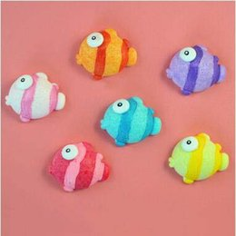 Ímãs engraçados por atacado on-line-Atacado Qqyfish Frigorífico Ímãs Bonito Cor Peixe Geladeira Adesivo Engraçado Novidade Brinquedos Utensílios de Cozinha Crianças Brinquedos Para Venda