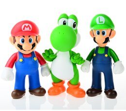 Wholesale Red Yoshi Action Figure - BOHS Super Mario Bros Mario Yoshi Luigi PVC Action Figure Collection Model Toys Dolls